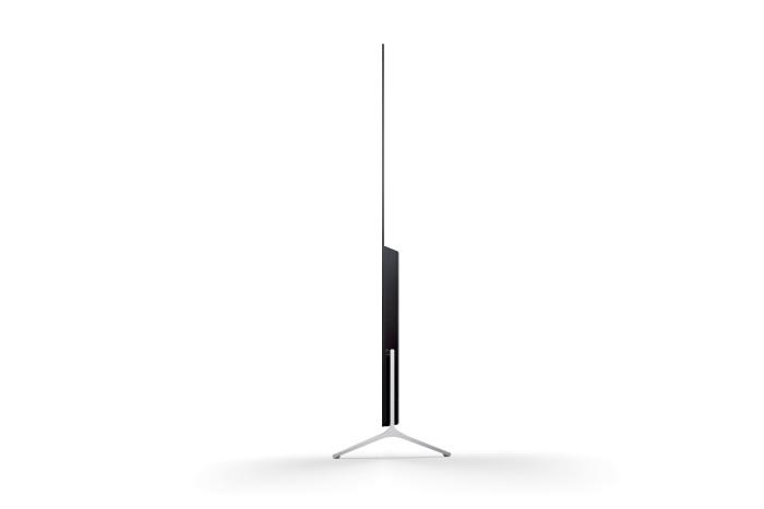 unglaublich schlanker 4k tv von sony vorgestellt. Black Bedroom Furniture Sets. Home Design Ideas