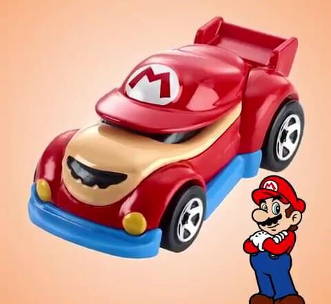 Nintendo Charaktere werden zu <em>Hot Wheels</em>-Autos