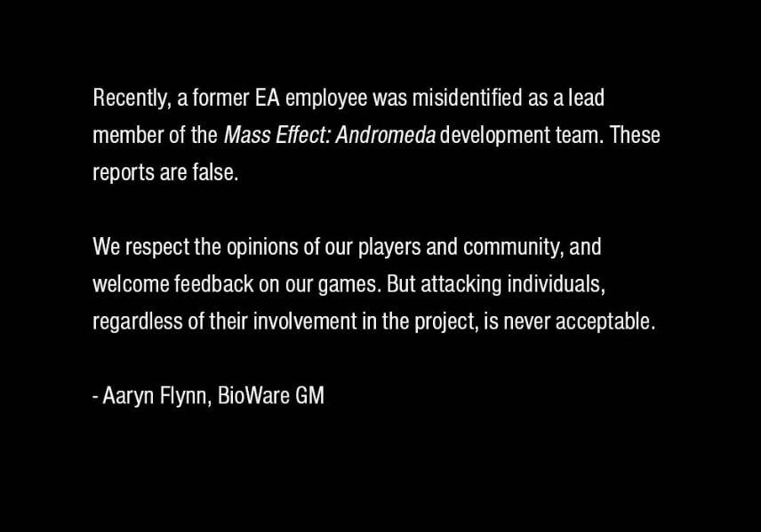 BioWare kümmert sich um Fehler in Mass Effect Andromeda