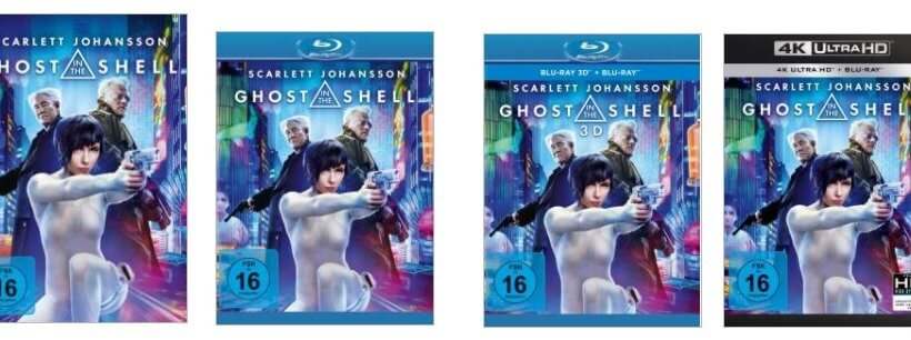 <em>Ghost in the Shell</em>: Realfilm ab 3.8.2017 auf DVD und Blu-ray