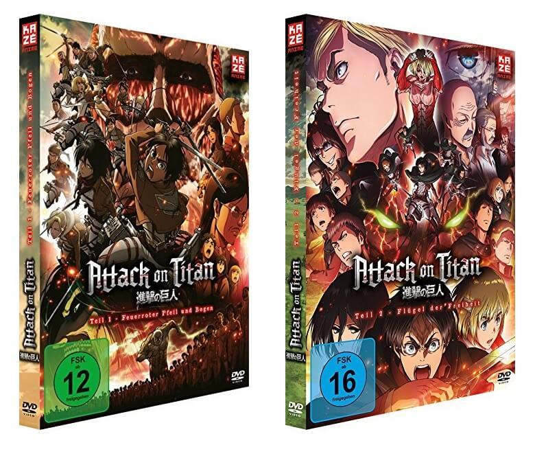 Attack On Titan Anime Movie 1 2 Ab Ende Juni Auf DVD Und Blu Ray