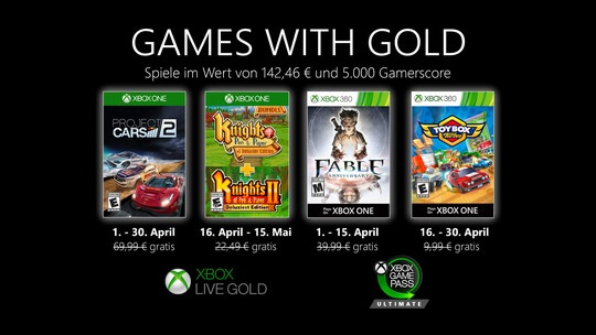 Gold April 2020 Spiele