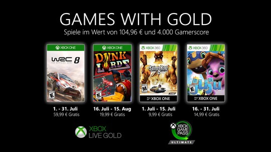 Games with Gold Juli 2020