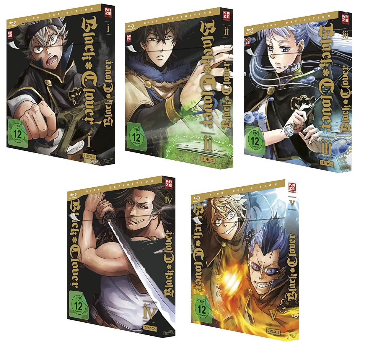 Black Clover Vol. 1-5