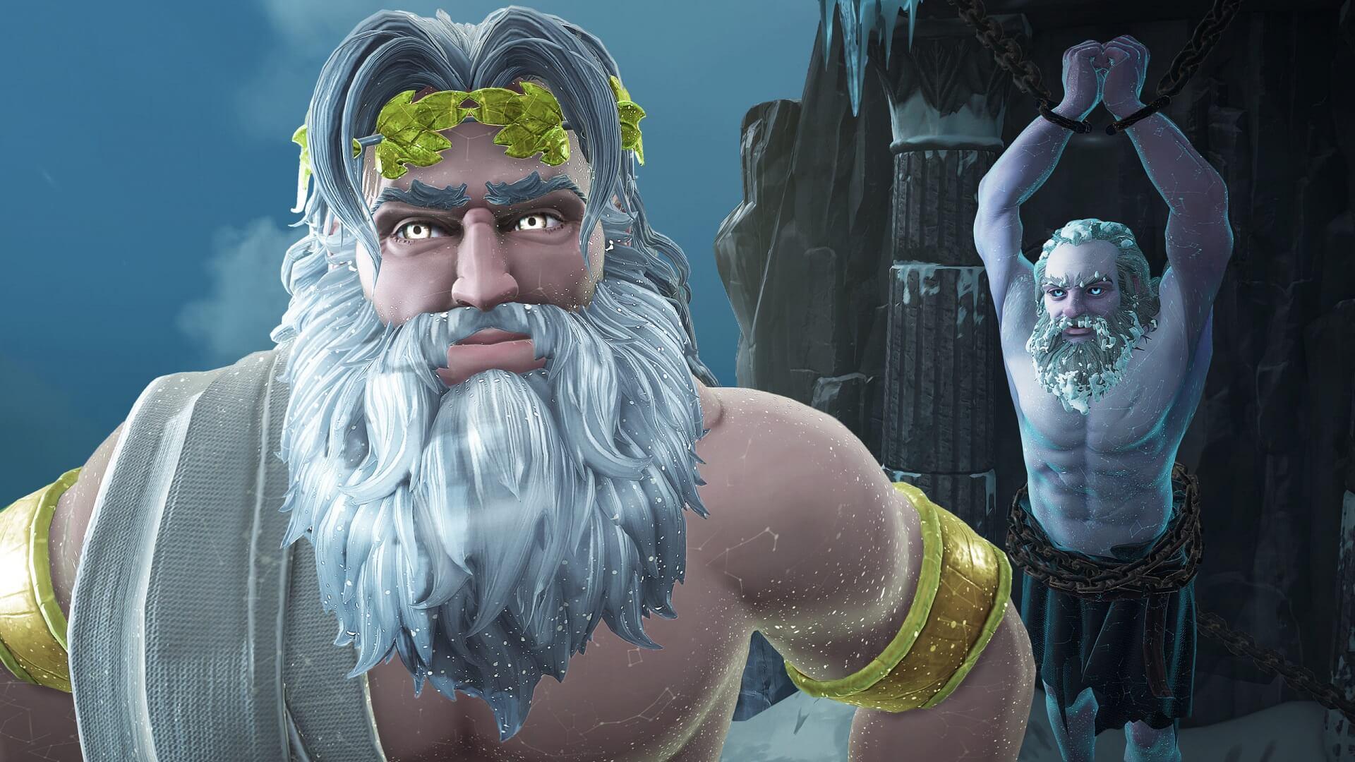 Immortals Fenyx Rising - Die beiden Erzähler Zeus und Prometheus, Copyright by Ubisoft
