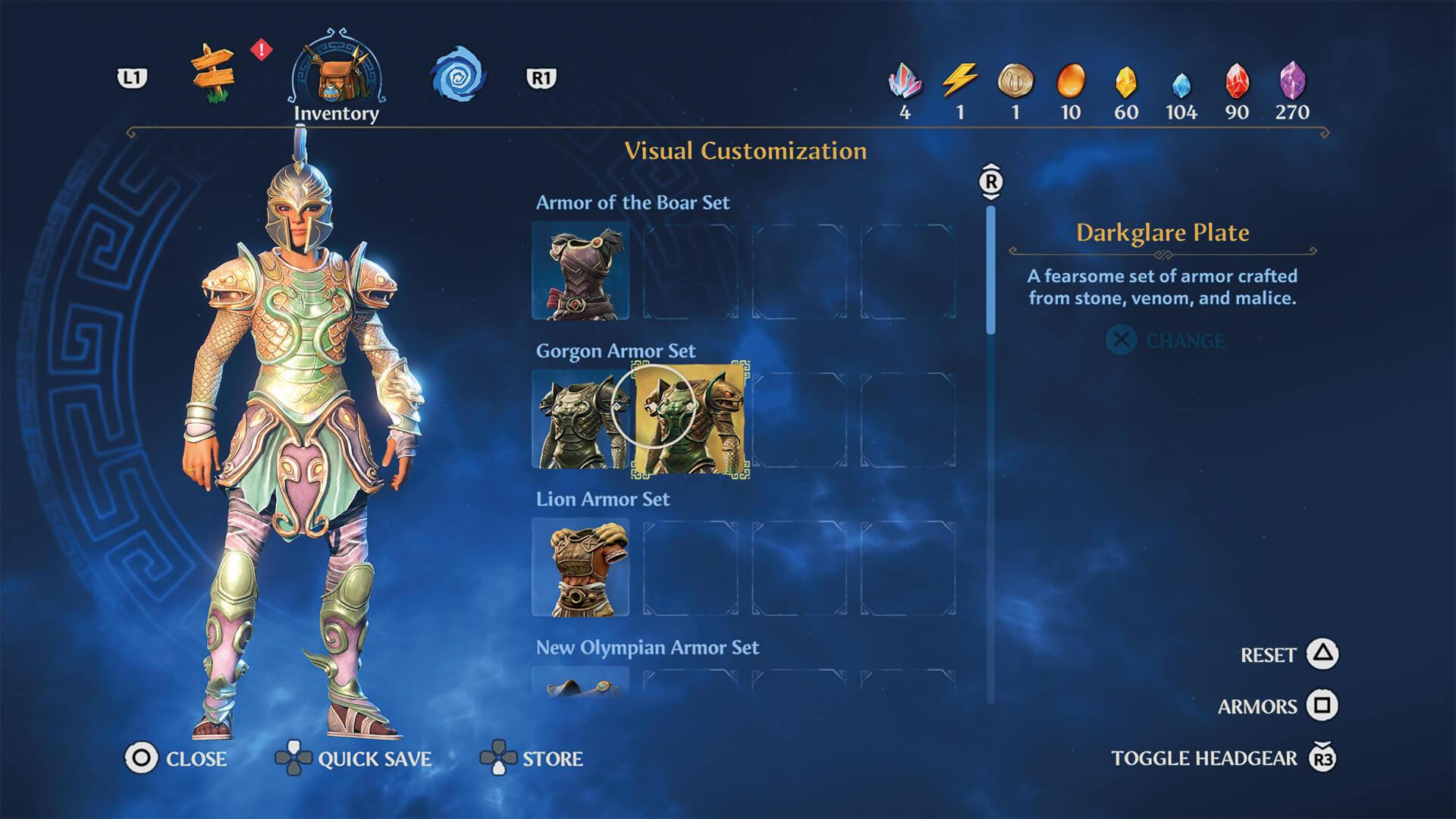 Immortals Fenyx Rising - Rüstungen und Waffen sind transmogrifizierbar, Screenshot by BeyondPixels.at, Copyright by Ubisoft