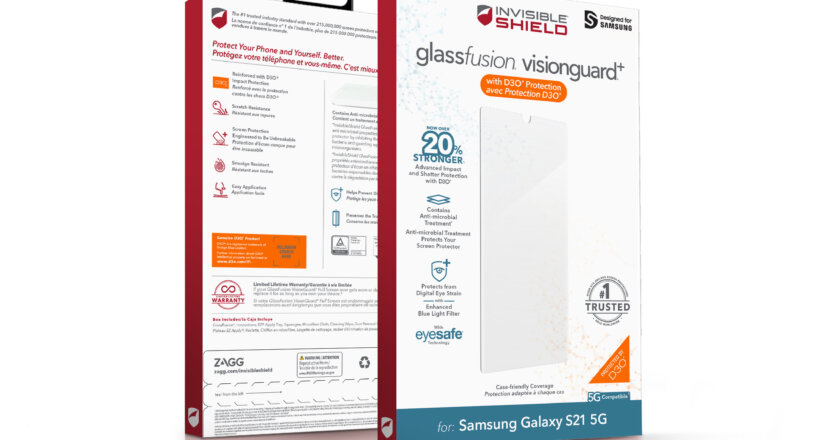 InvisibleShield Displayschutzfolien für das Samsung Galaxy S21